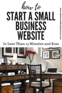 How to Start a Small Business Website: A Tutorial
